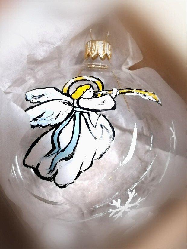 Globuri din sticla pictate manual