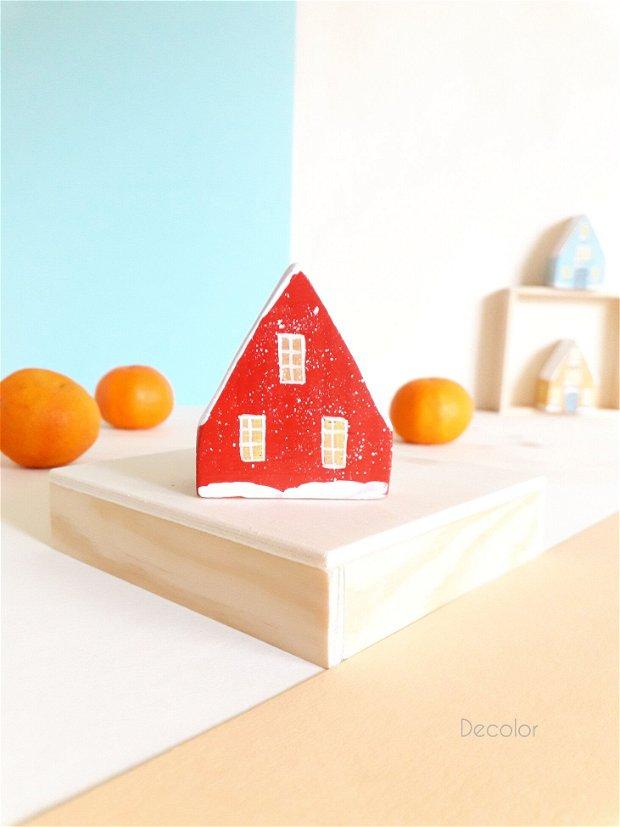 Christmas box - Patru căsuțe din lemn pictat
