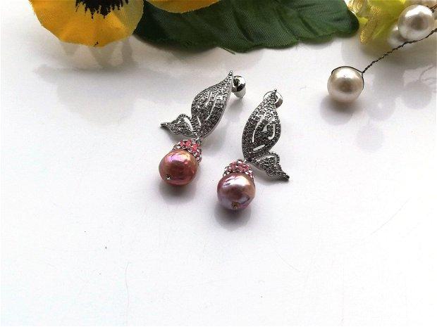 Cercei perle Kasumi
