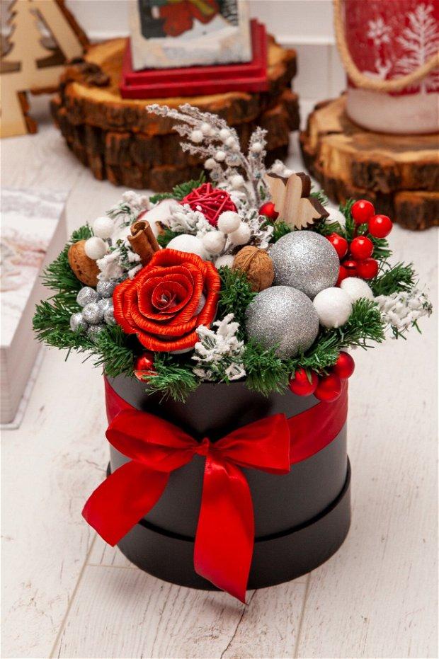 Aranjament cadou Crăciun
