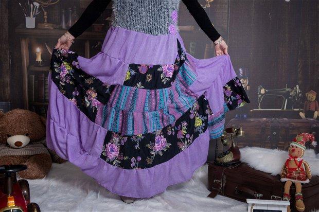 Vesta mov sau rochie pufoasa