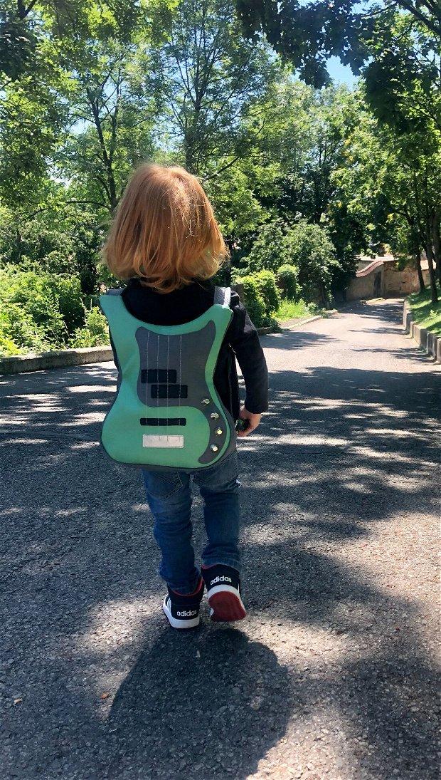 Rucsac chitara pentru copii din piele vegana