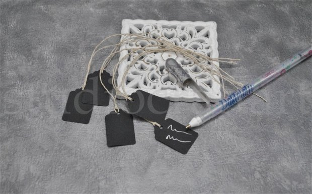 Set 50 etichete negre + pix alb/argintiu