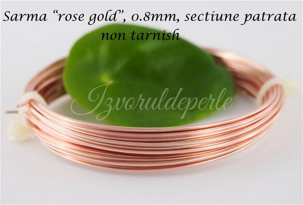 "Sarma ""rose gold"" 0.8mm, sectiune patrata, NT (1)"