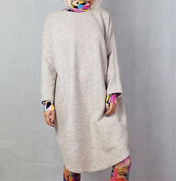 Rochie pulover lana