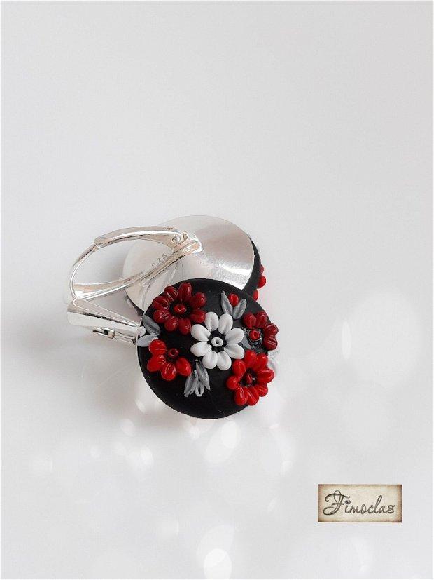 "Cercei argint  ""red dress """