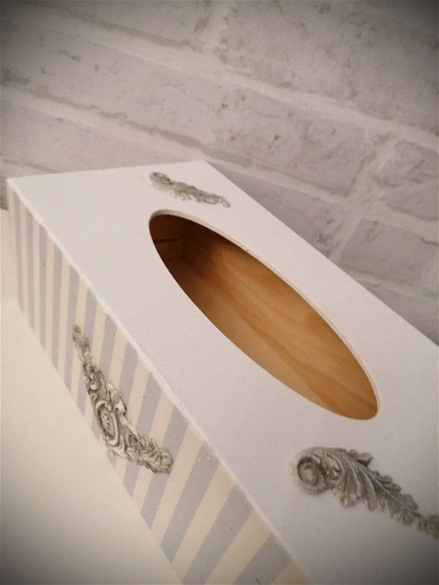 Cutie suport servetele, din lemn