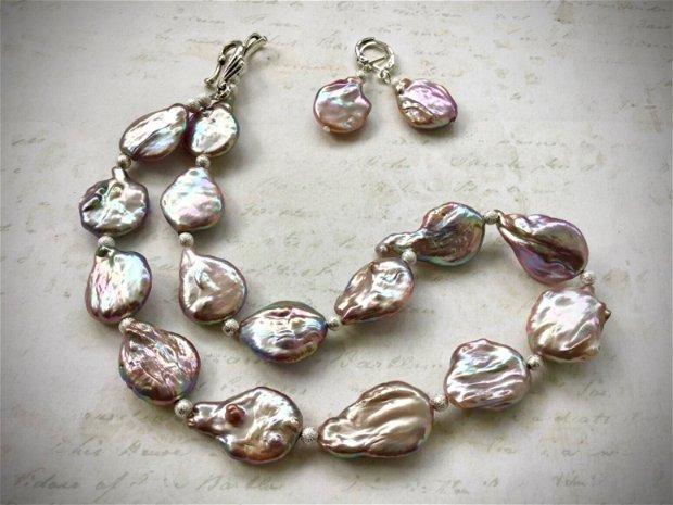 Colier perle baroc
