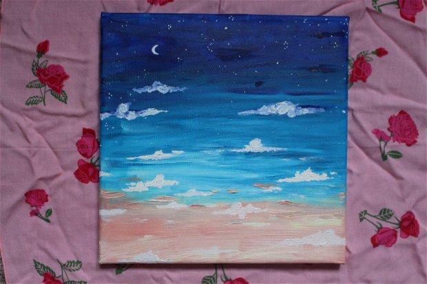 Pictura peisaj in ulei