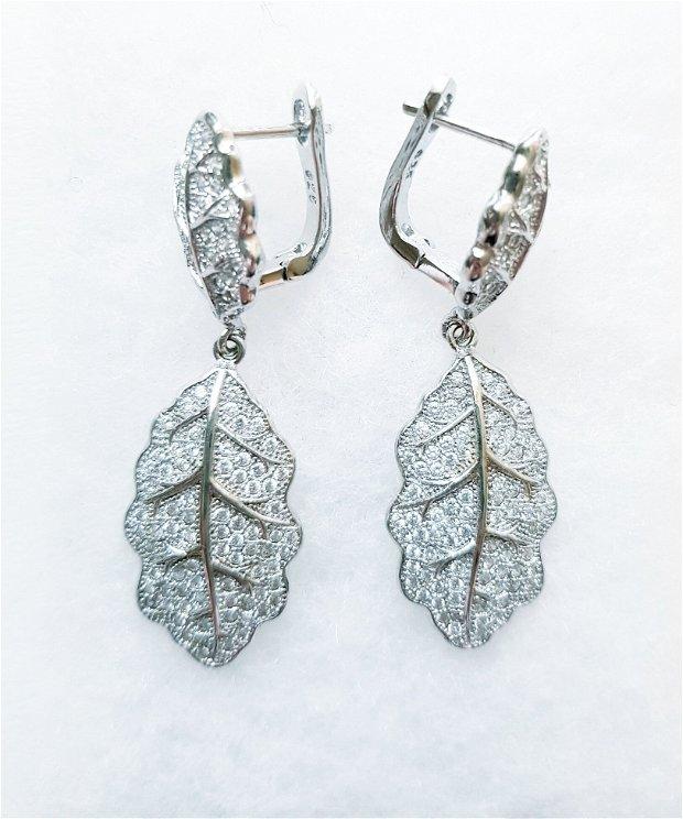 Cercei Argint 925 cubic zirconia