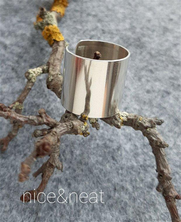 Inel/verighetă lată din argint 925 18 mm