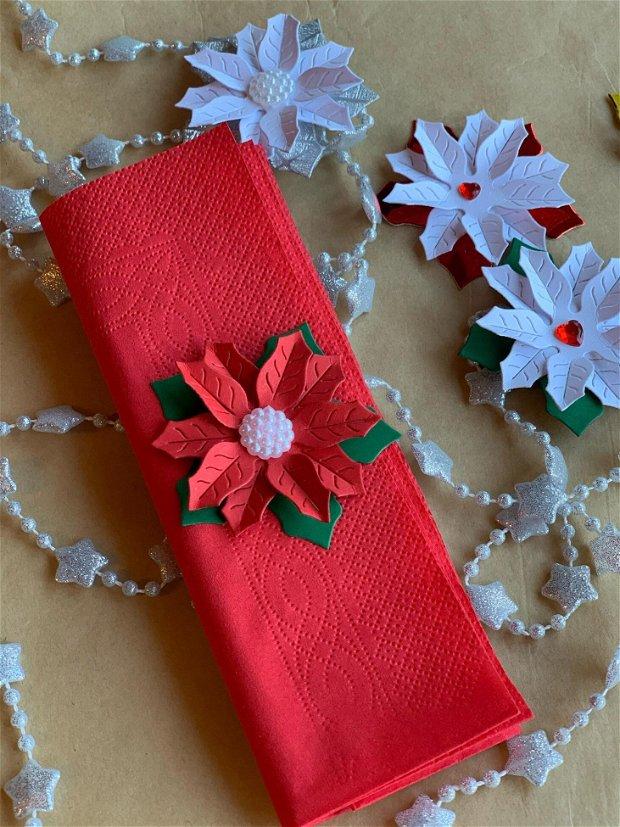 Poinsettia- floarea Craciunului pentru decor mese