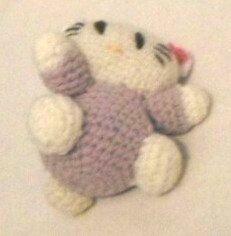 Hello Kitty cu rochita mov 10 cm