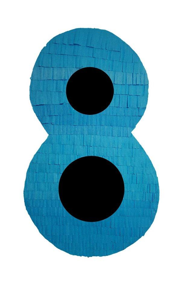 Pinata Cifra 8 albastru