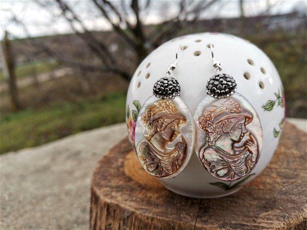 Cercei paua shell