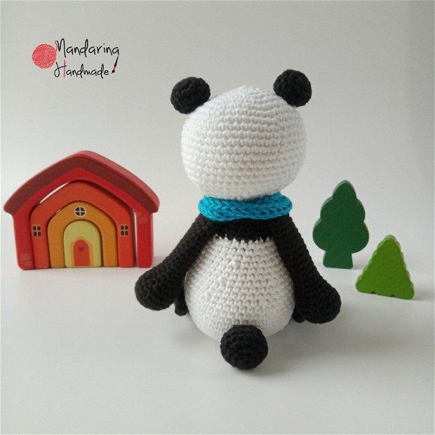 Ursuleț croșetat. Ursuleț Panda. Jucărie croșetată