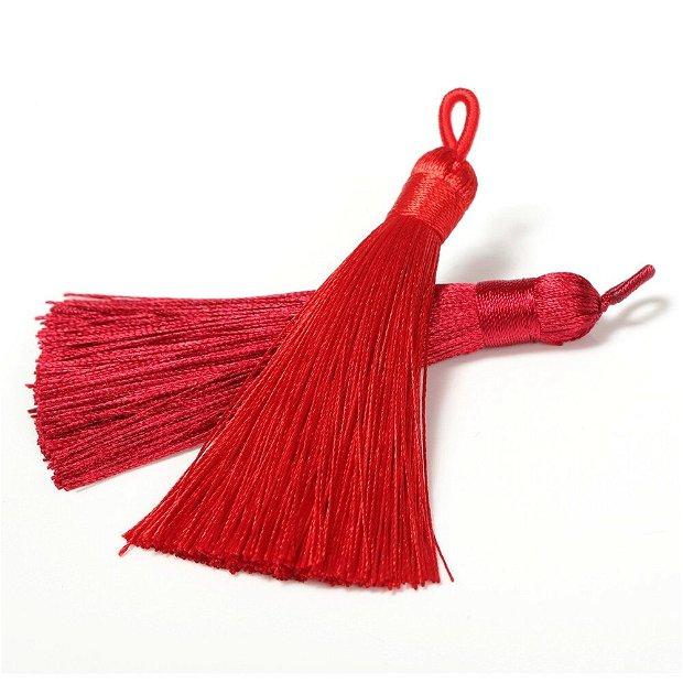 Ciucuri (9cm) mătase, roșii