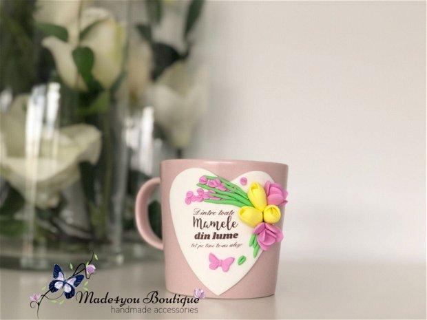 Cana personalizata cu flori