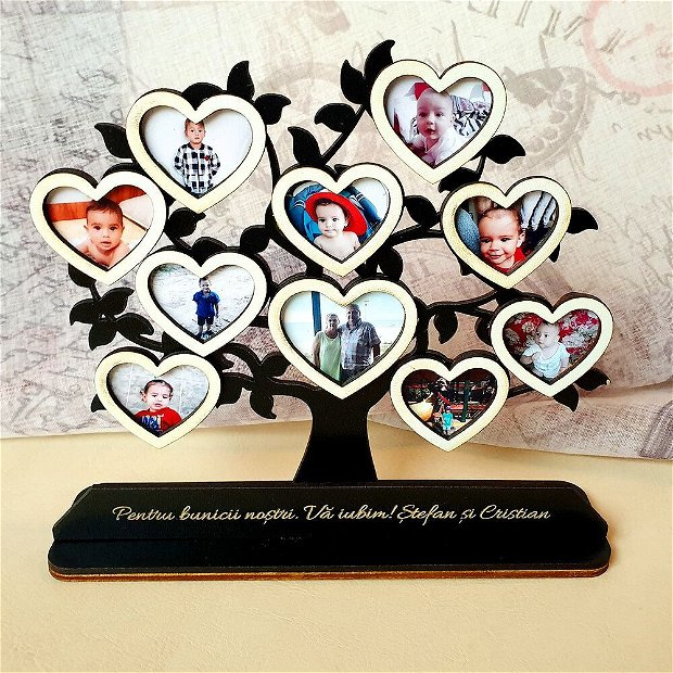 Copac cu POZE  - NEGRU / ALB personalizat