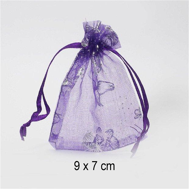 Punguta organza, 9 x 7 cm, Q-03