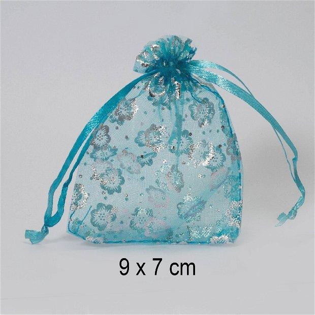Punguta organza, 9 x 7 cm, Q-09