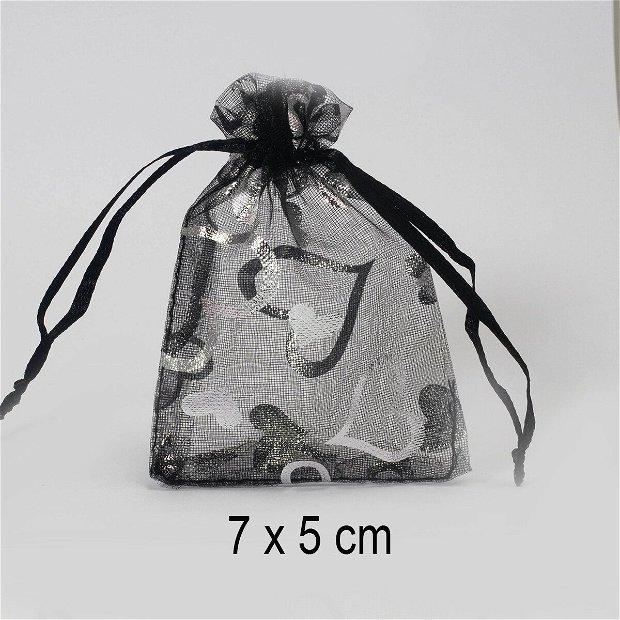 Punguta organza, 9 x 7 cm, Q-14