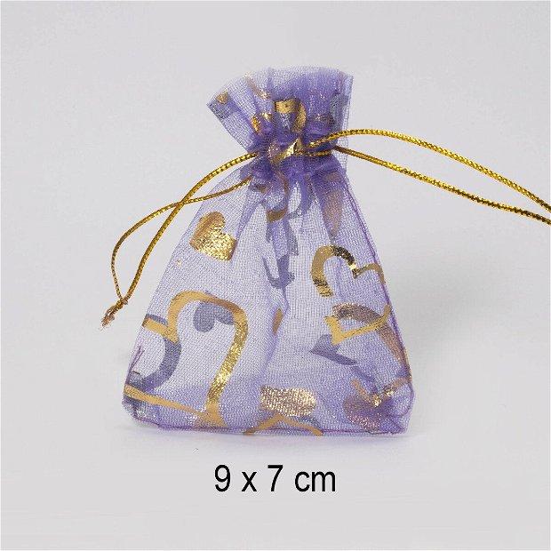 Punguta organza, 9 x 7 cm, Q-17