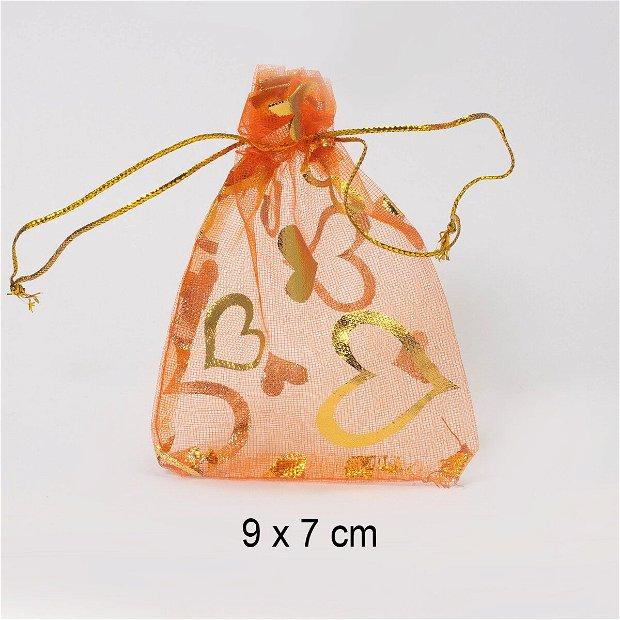 Punguta organza, 9 x 7 cm, Q-18