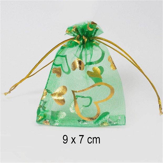 Punguta organza, 9 x 7 cm, Q-21