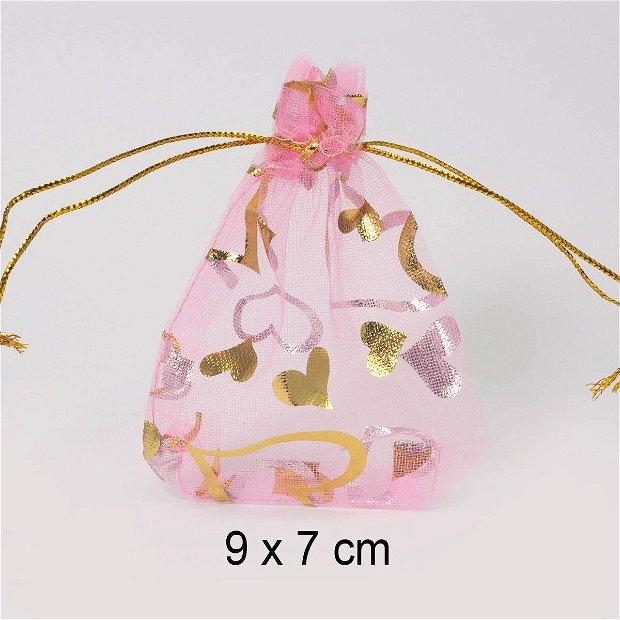 Punguta organza, 9 x 7 cm, Q-22