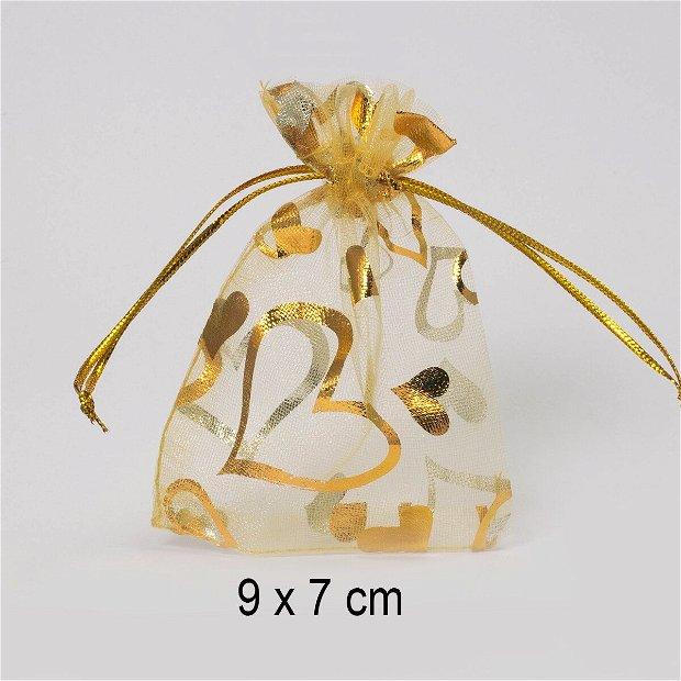 Punguta organza, 9 x 7 cm, Q-23