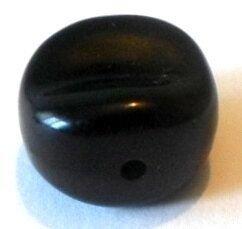 Margele plastice rondele neuniforme negru 17 mm
