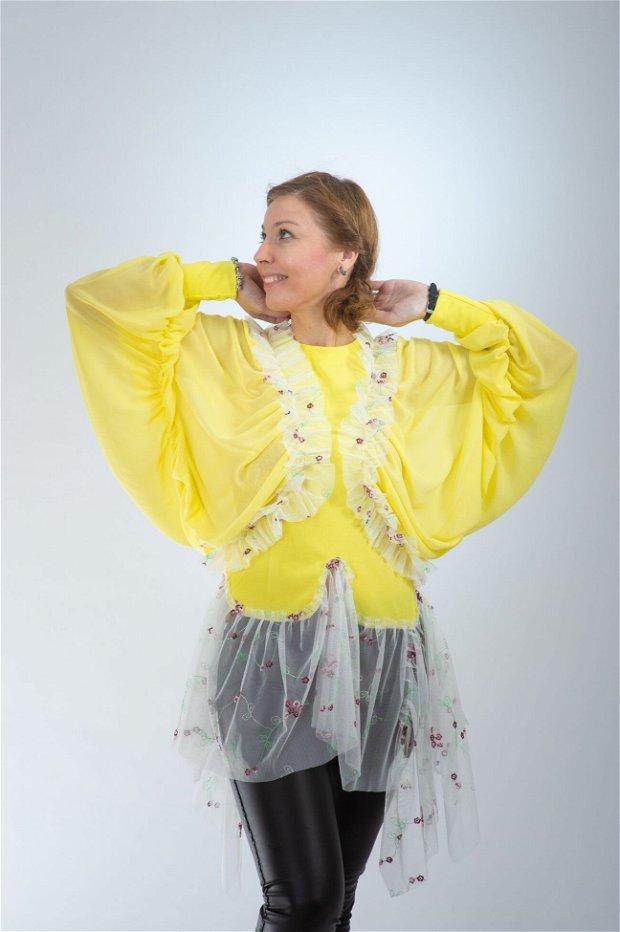 Bluză galbenă lămâie