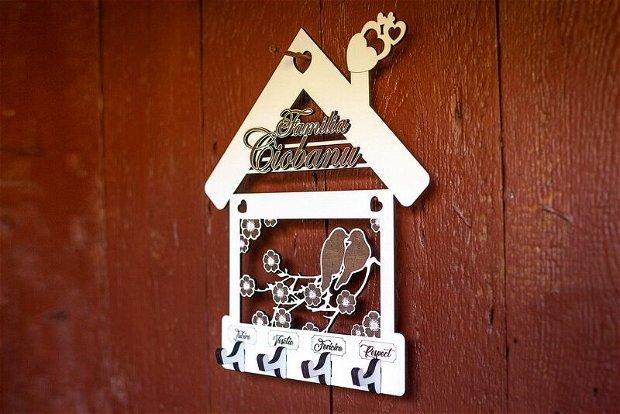 Suport de chei din lemn, DI1016