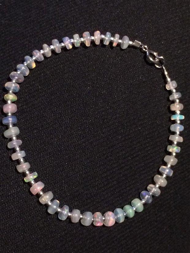 Bratara opal etiopian si argint (913)
