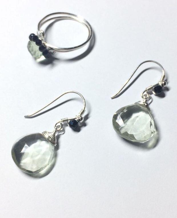 Ametist verde, spinel si argint 925 (914)