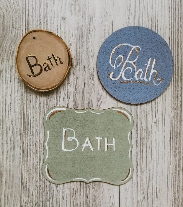 Placute pentru usa baie