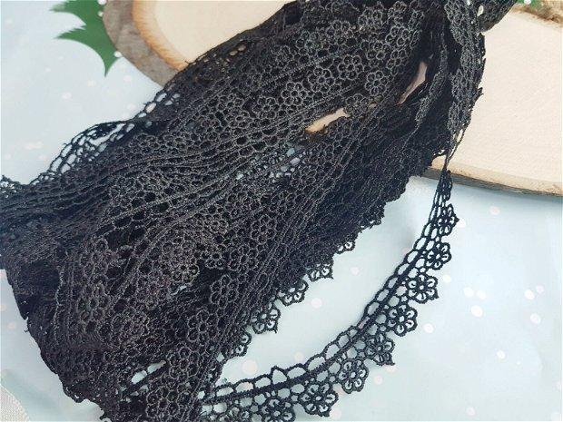 (1m) Dantela (2cm) neagră
