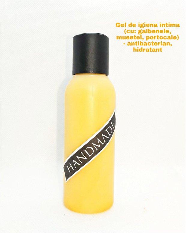 GEL IGIENA INTIMA - ANTIBACTERIAN & HIDRATANT (cu: portocale, galbenele si musetel)