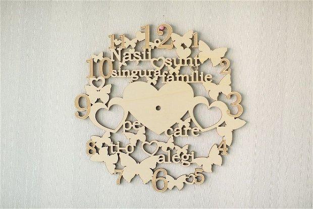 Ceas decorativ din lemn, CL1003