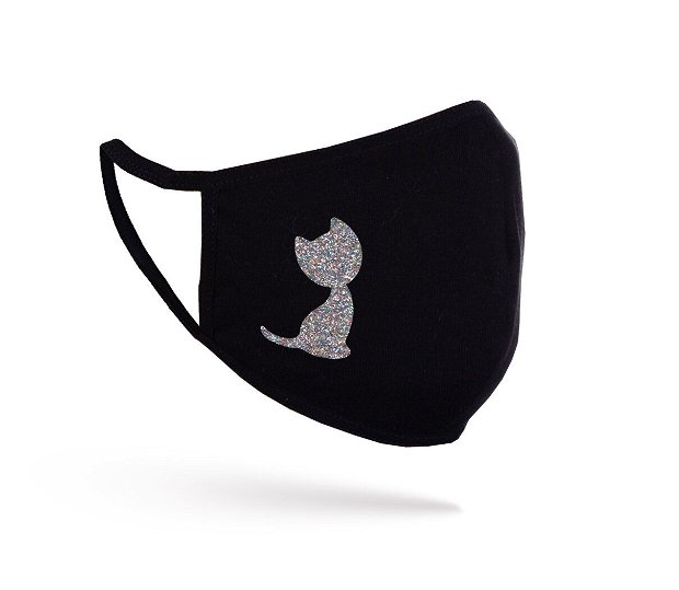 Mască Glitter Cat neagră