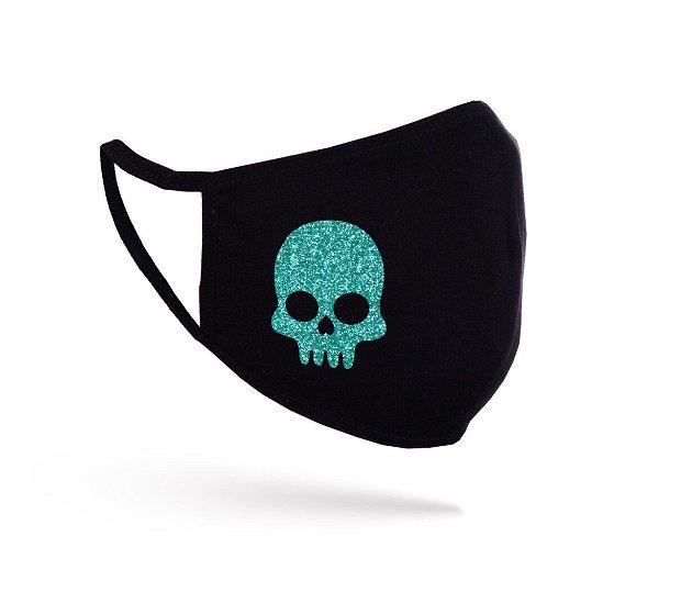 Mască Glitter Skull neagră