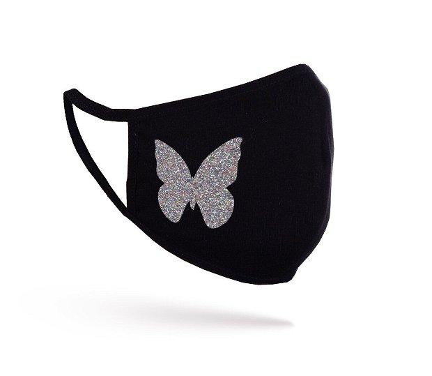 Mască Glitter Butterfly neagră