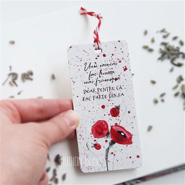 Minisemn de carte maci picta personalizat cu mesaj