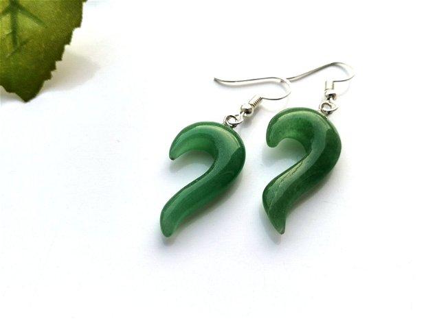 Cercei green aventurin