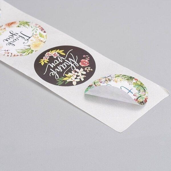 (8 buc.) Etichete sticker Thank You, hartie autocolanta 25mm DVLAK-T 059