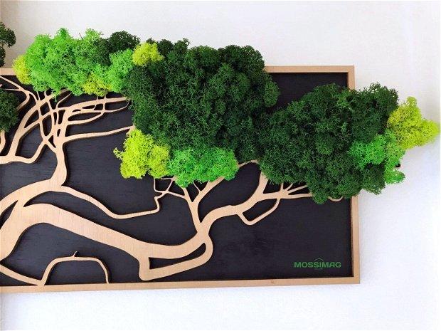 Tablou verde din 3 piese