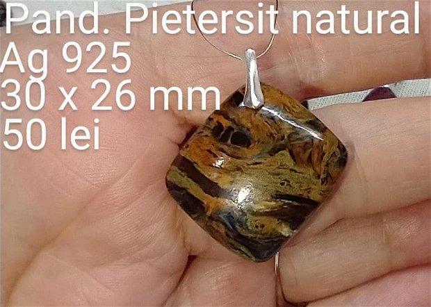 Pietersit natural, pandantiv,