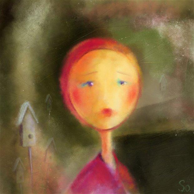 Printesa cu pasari, Arte Vizuale-Ilustratie