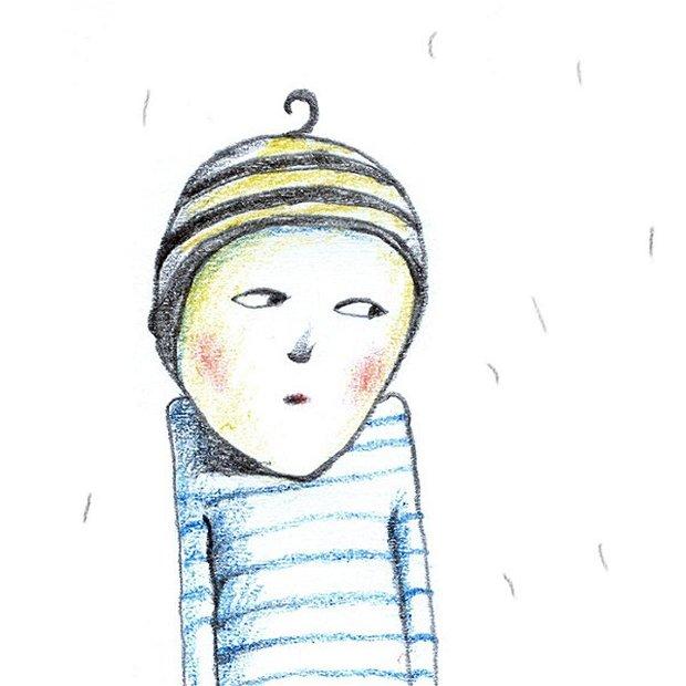 The boy with ball, Arte Vizuale-Ilustratie